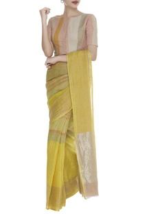 Front Closure Striped sari Blouse