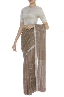 Metallic printed sari blouse