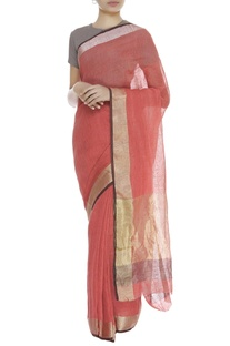Jacquard linen sari