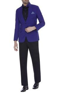 Collar blazer jacket with trouser