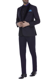 Lapel collar blazer jacket with trouser pants