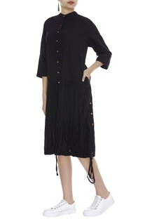 Dress with Gathered Hem