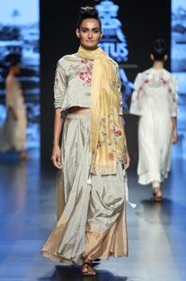Floral Embroidered Lehenga Set