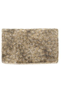 Flapover Bead Embroidered Clutch