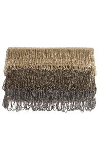 Tiered Tassel Flapover Clutch