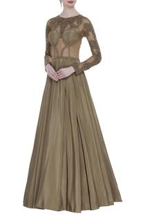 Antique corset style gown