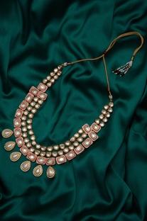 Meenakari kundan festive necklace