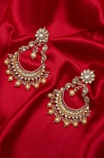 Paachi kundan chandbali earrings