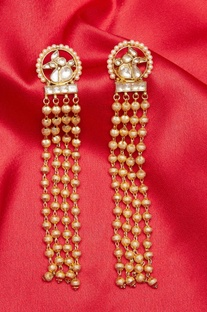 Pure paachi kundan dangling earrings