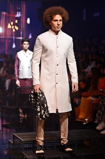 Vanilla embroidered sherwani set