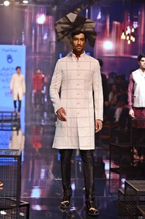 All over embroidered sherwani set