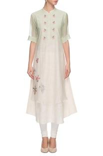 Sage green embroidered �kurta
