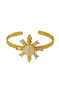 Gold finish white star cuff