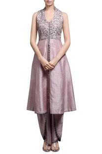 Blush pink kurta with tulip pants