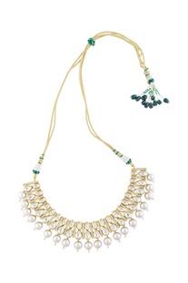 Gold kundan choker necklace
