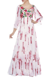 Off-white rose cherry blossom gown
