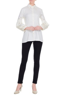 White solid victorian shirt