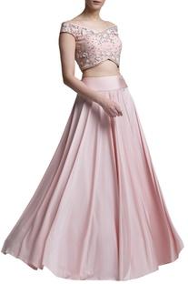 Blush pink lehenga set
