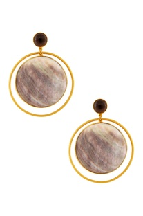 Silver plated earrings with shell motifs