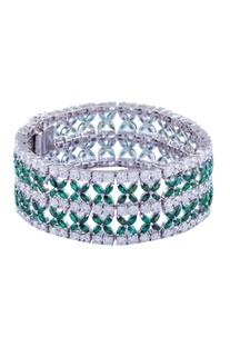Marquise floral sleek bracelet