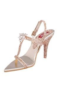 Stardust gold dimante heels
