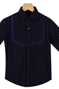 Vertical Stripes Collared Shirt