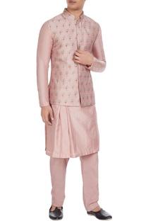 Rose pink pitta work bundhi jacket