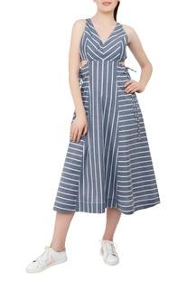 Cutout waist midi dress