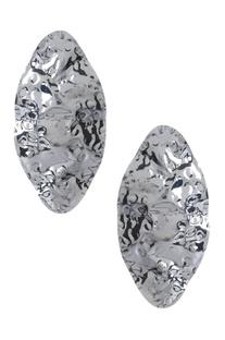 Oversized circular statement earrings
