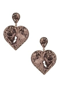 Heart shape statement earrings
