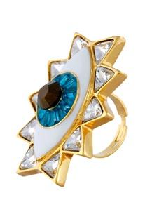 Evil eye statement ring