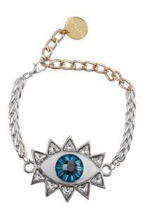 Evil eye bracelet with chain