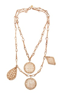Organic cane handcrafted necklace