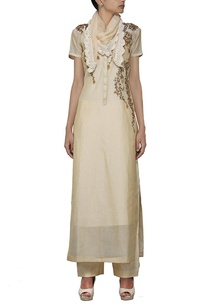 beige-embroidered-kurta-set-with-stole