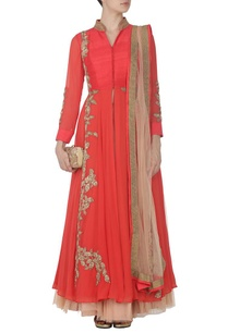 coral-zardosi-embroidered-anarkali-with-tulle-skirt