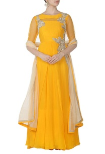 canary-yellow-zardosi-embroidered-anarkali-set