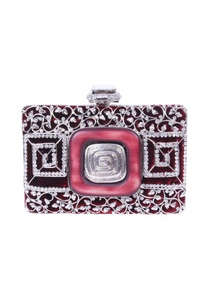 maroon-and-silver-embellished-clutch