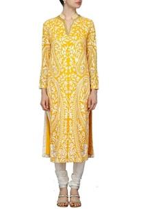 mango-yellow-motif-embroidered-kurta-set