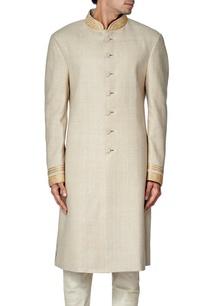beige-linen-zari-embroidered-sherwani