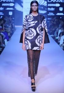 black-armour-midi-skirt