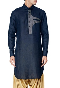 black-short-kurta