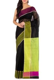 black-and-green-chanderi-sari