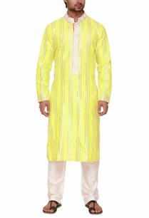 lime-green-silver-zari-embroidered-kurta-set