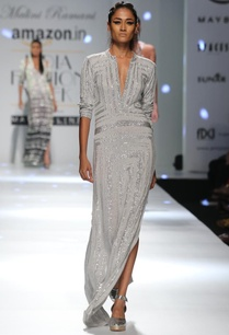 grey-shimmer-star-column-dress