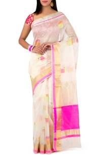 off-white-pink-chanderi-sari