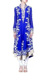 royal-blue-floral-applique-kurta-set