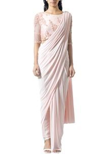 blush-beaded-sari-set