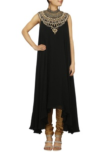 black-zardosi-embroidered-kurta-set