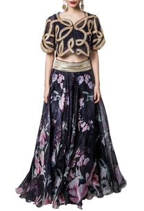 black-floral-lehenga-with-embroidered-crop-bolero