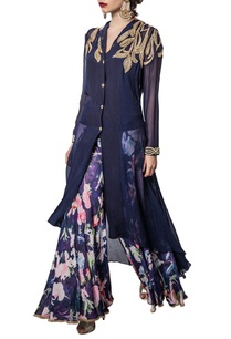 navy-blue-kurta-with-floral-palazzos